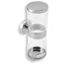 NOVASERVIS METALIA 11 zásobník na kosmetické tampóny a tyčinky sklo/chrom 0182,0