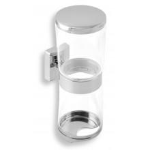 NOVASERVIS METALIA 12 zásobník na kosmetické tampóny a tyčinky sklo/chrom 0282,0