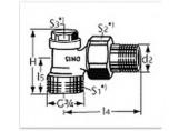 """HEIMEIER šroubení Regulux DN 15-1/2"""" rohové s vnějším závitem 0361-02.000"""