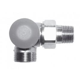 """HERZ TS-98-VHF-Termostatický ventil M30x1,5 úhlový levý 1/2"""", šedá krytka 1764526"""