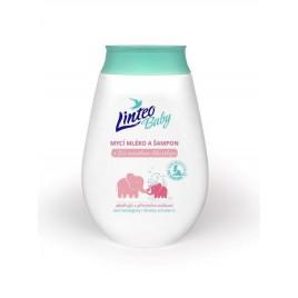 LINTEO BABY Dětské mycí mléko a šampón s měsíčkem lékařským 250 ml 1032