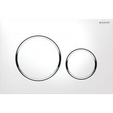 Geberit Sigma20 ovládací tlačítko, bílá/pochromovaná lesklá/bílá, plast 115.882.KJ.1