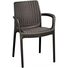 KETER BALI MONO zahradní židle, 55 x 60 x 83 cm, hnědá 17190206