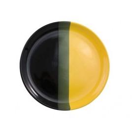 VETRO-PLUS Pizza talíř černo/žlutý 30,8cm 202949BY