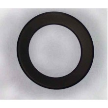 Růžice kouřovodu 150mm kroužek (0,5) černá