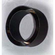 Komínová redukce 160mm/120mm (1,5) Schidel černá