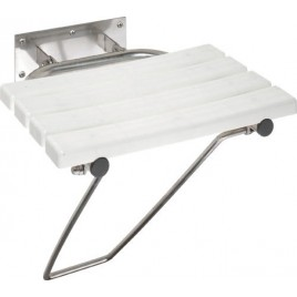 SAPHO SENIOR 301102181 Sklopné sprchové sedátko s opěrnou nohou, bílá