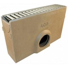 ACO EuroSelf 0,5 m, vpust, pozinkovaný rošt s integrovaným PVC nátrubkem DN100 38703