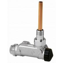 "HEIMEIER E-Z ventil rohový pro dvoutrubkové soustavy černá krytka 1/2"" 3879-02.000"