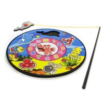 VETRO-PLUS Pěnový rybolov - hodiny - 7 zvířátek 38ST3250