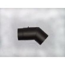Koleno kouřovodu 150mm 45° (1,5) černé
