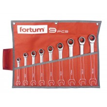 FORTUM klíče ráčnové očkoploché, sada 9ks 4720104