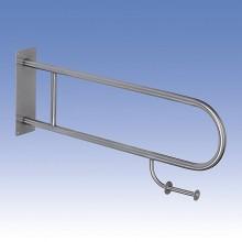SANELA Nerezové madlo sklopné s držákem toaletního papíru SLZM 03SDXP 830 mm matný 39032