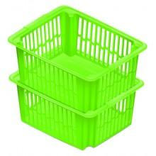 HEIDRUN Košíček,18,5 x 43 x 34 cm, 22 l, zelený 5097
