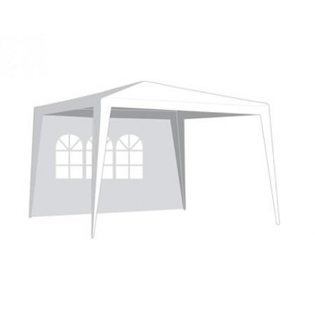 Bočnice zahradního stanu s oknem 2,95 x 1,9m bílá 50ZJ10292