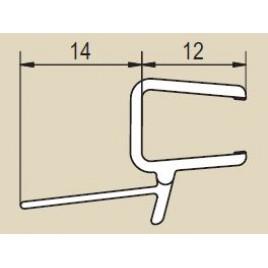 RONAL Vodorovné obloukové těsnění pro 8 mm skla s rádiusem 550 mm 51502