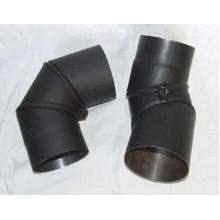 Koleno kouřovodu, přestavitelné 150mm 0-90° (1,5) černé