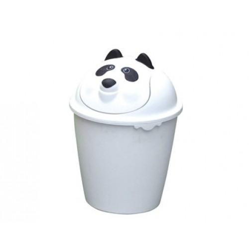 VETRO-PLUS Odpadkový koš 8 L, výklopné víko, víko v provedení Panda 55478P