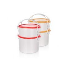 BANQUET 2-dílný plastový jídlonosič Apetit 55LNCHB2PC
