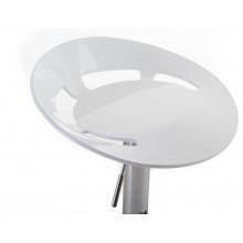 G21 Barová židle Teara plastová, bílá 60023087