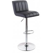 G21 Barová židle Malea koženková, prošívaná černá 60023096