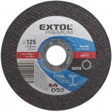 EXTOL PREMIUM kotouč řezný a brusný, řezný na ocel 125x1,6x22,2mm 8808112