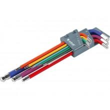 EXTOL PREMIUM L-klíče imbusy prodloužené barevné, sada 9ks 8819315