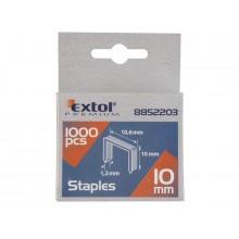 EXTOL PREMIUM spony 10mm, 10.6x0.52x1.2mm, balení 1000ks 8852203