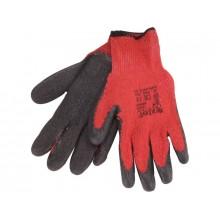 """EXTOL PREMIUM rukavice bavlněné polomáčené, velikost 9"""", červenočerné 8856641"""