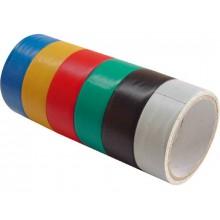 EXTOL CRAFT pásky izolační PVC, sada 6ks, 19mm x 18m 9550