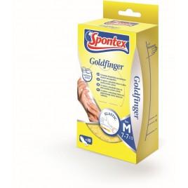 SPONTEX Goldfinger latexové rukavice jednorázové 10 ks M