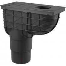 ALCAPLAST Univerzální lapač střešních splavenin 300 × 155/125/110 přímýčerný AGV4