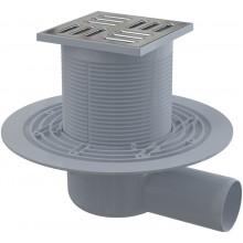 ALCAPLAST Podlahová vpust 105×105/50 boční, mřížka nerez APV1311