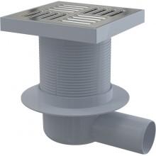 ALCAPLAST Podlahová vpust 150 × 150/50 boční, mřížka nerez APV5411