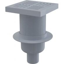 ALCAPLAST Podlahová vpust 150 × 150/50 přímá, mřížka šedá APV6211