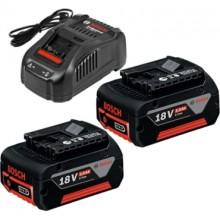 BOSCH GBA 18 V 5,0 Ah Akumulátor 2 ks + GAL 1880 CV Rychlonabíječka 1600A00B8J