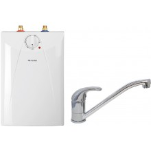 CLAGE Ohřívač vody se zásobníkem S5-U+BDP pod umyvadlo 2,0kW/230V, s ventilovou armaturou 4100-42057