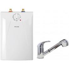 CLAGE Ohřívač vody se zásobníkem S5-U+EKZ pod umyvadlo 2,0kW/230V, s ventilovou armaturou 4100-42058