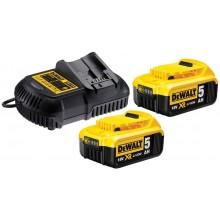 DeWALT Sada nabíječky a 2x baterií XR Li-Ion 18V 5,0 Ah DCB115P2
