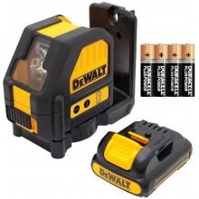 DeWALT Aku křížový laser červený s adaptérem na připojení 4x AA baterie DCE088LR