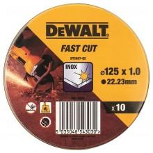 DeWALT Řezný kotouč na nerez 125mm, 1mm, sada 10ks DT3507