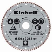 EINHELL Diamantový kotouč TURBO 200x25,4 mm k řezačkám TPR 200/2, RT-SC 560 U 4301175