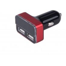 EXTOL ENERGY nabíječka USB do auta, 12/24V, 2xUSB, měřič, 3,4A, 17W 42084