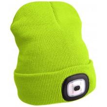 EXTOL LIGHT čepice s čelovkou 45lm, nabíjecí, USB, fluorescentní žlutá 43194