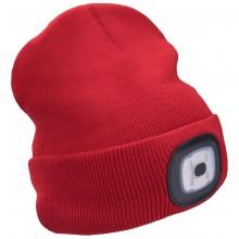 EXTOL LIGHT čepice s čelovkou 45lm, nabíjecí, USB, červená, univerzální velikost 43198