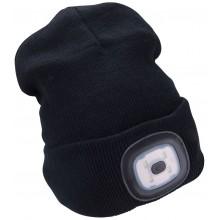 EXTOL LIGHT čepice s čelovkou 45lm, nabíjecí, USB,černá, univerzální velikost 43199