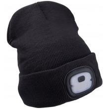 EXTOL LIGHT čepice s čelovkou 4x25lm, nabíjecí, USB, tmavě šedá, ECONOMY 43452