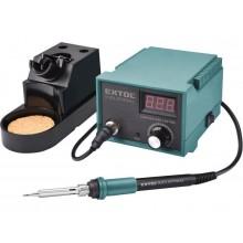 EXTOL INDUSTRIAL Pájecí stanice s LCD, elektronickou regulací teploty, kalibrací 8794520