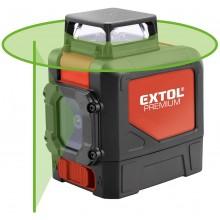 EXTOL PREMIUM laser zelený liniový, křížový samonivelační 8823307