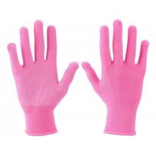 """EXTOL LADY rukavice z polyesteru s PVC terčíky na dlani, velikost 7"""" 99719"""